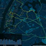 Interactieve kaart met taxiverkeer New York