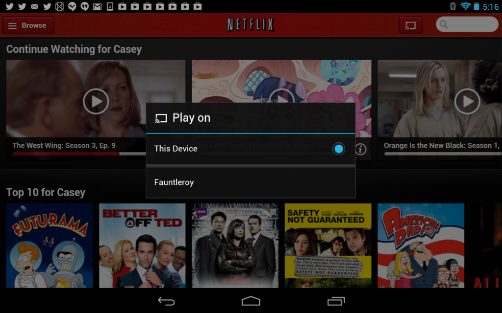 Chromecast mobile