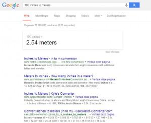 Google omrekenen