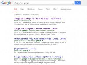 Google Site doorzoeken