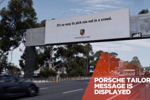 Porsche billboard