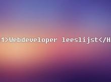 webdeveloperlijst