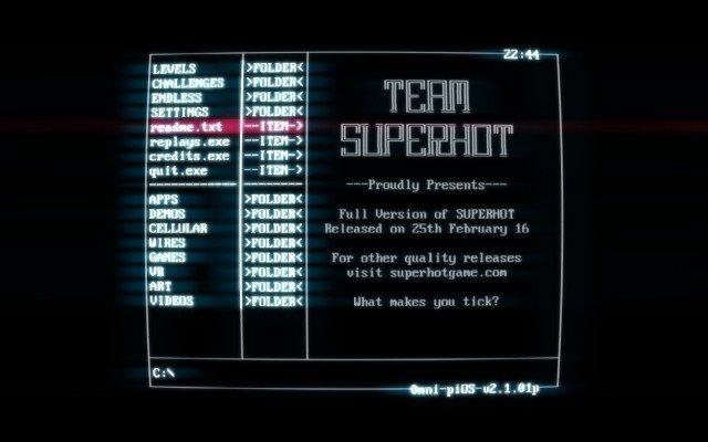 superhot-menu