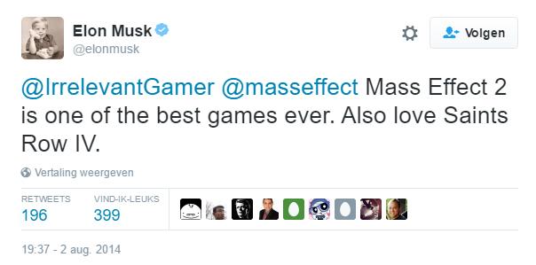 tweet musk mass effect